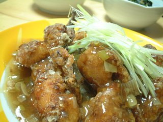 鶏の唐揚げ黒酢あんかけ